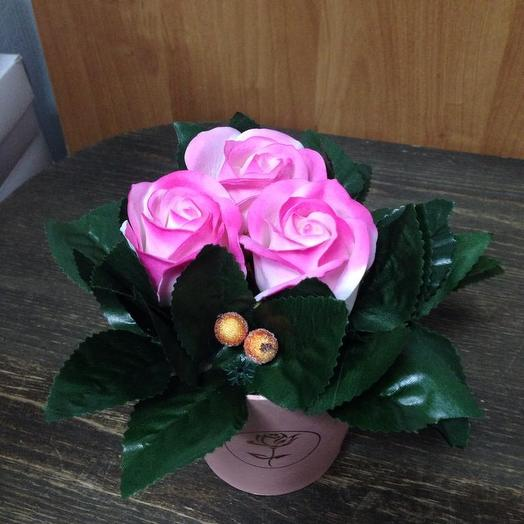 РОЗА ИЗ МЫЛА. Розовая дымка
