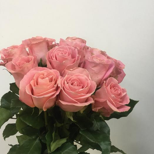 15 розовых роз: букеты цветов на заказ Flowwow