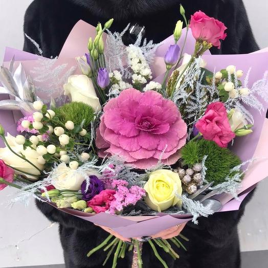 Зимняя сказка 💜: букеты цветов на заказ Flowwow