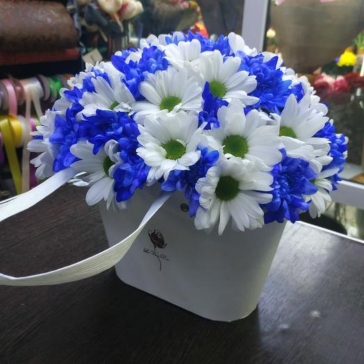 Сумка из кустовой хризантемы: букеты цветов на заказ Flowwow