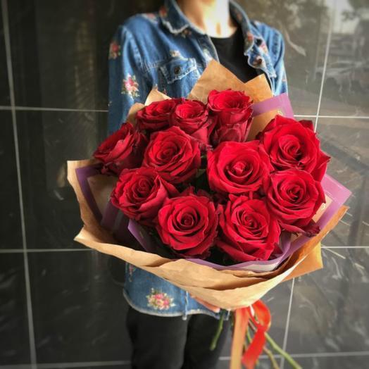 Красные розы 14: букеты цветов на заказ Flowwow