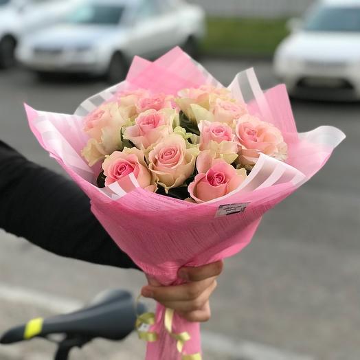 Букет из 11 нежно розовых кений