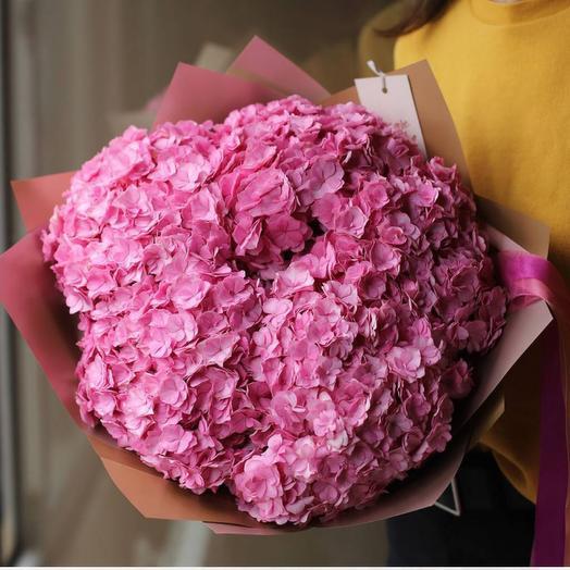 Букет розовых гортензий (5шт)