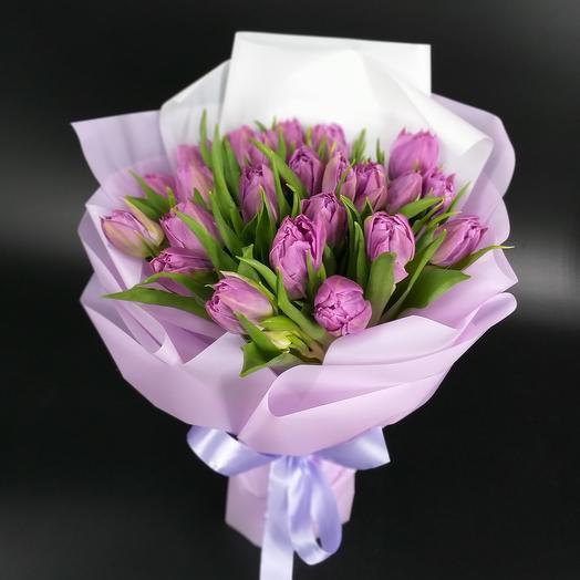 Букет из пионовидных тюльпанов Дабл Прайс