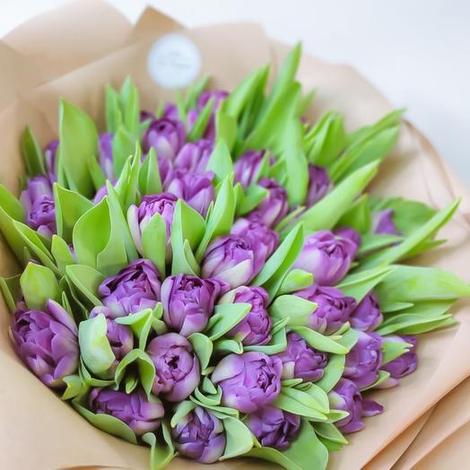 Лавандовые тюльпаны на 23 февраля