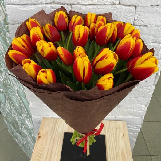 Букет из тюльпанов 31шт