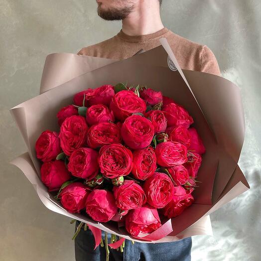"""Пионовидная роза """"Ред Пиано"""""""