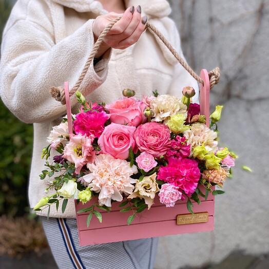 Цветочный ящик малиновый сон