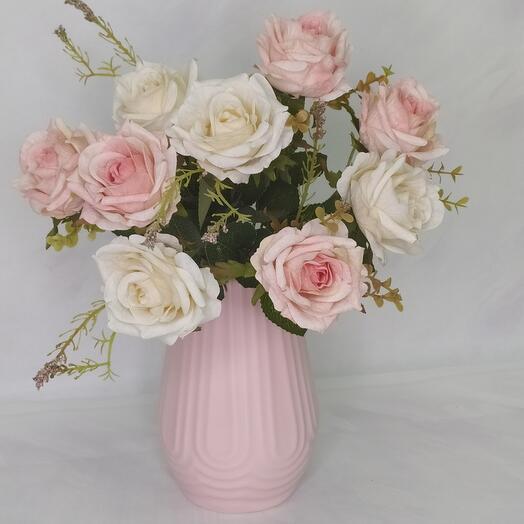 Декоративная ваза, цвета микс высота 19см