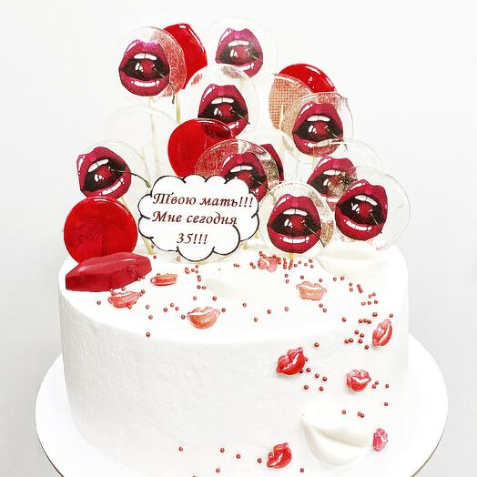 Торт с поцелуями
