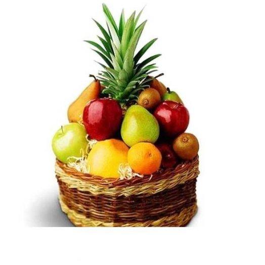 002 Корзина фруктов: букеты цветов на заказ Flowwow
