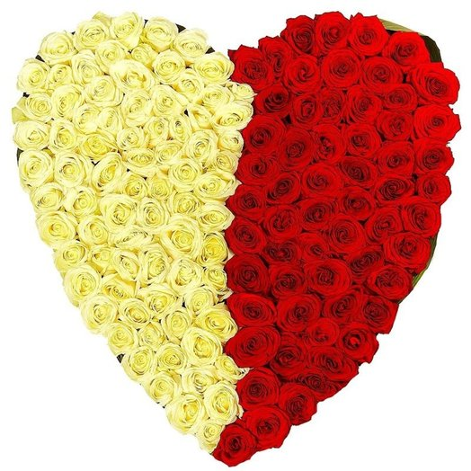 Сердце из роз: букеты цветов на заказ Flowwow