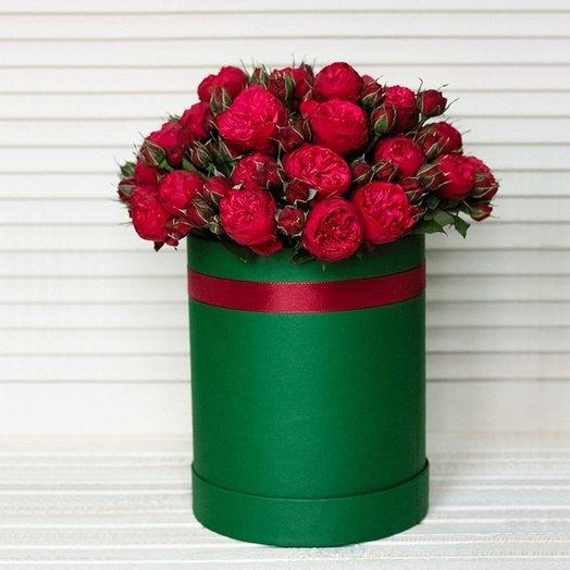 Роза Ред Пиано в зеленой коробке: букеты цветов на заказ Flowwow
