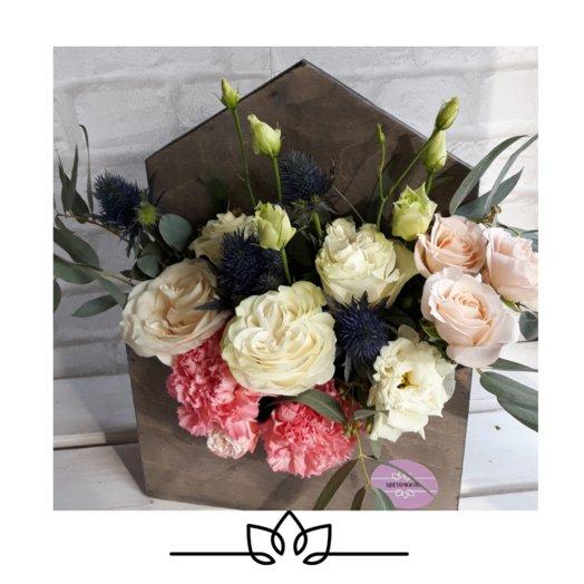 """Композиция """"Письмо счастья"""": букеты цветов на заказ Flowwow"""