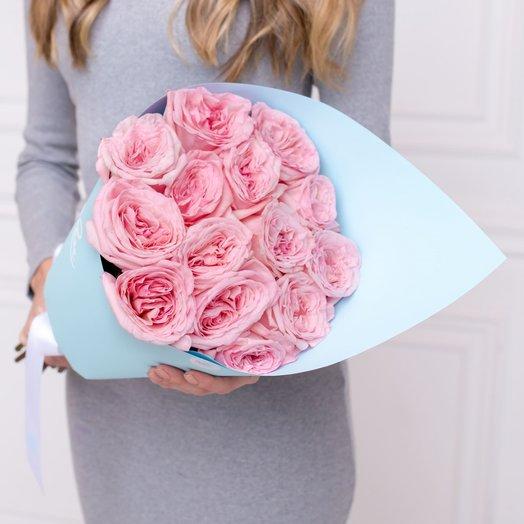 Букет из 15 пионовидных роз.: букеты цветов на заказ Flowwow