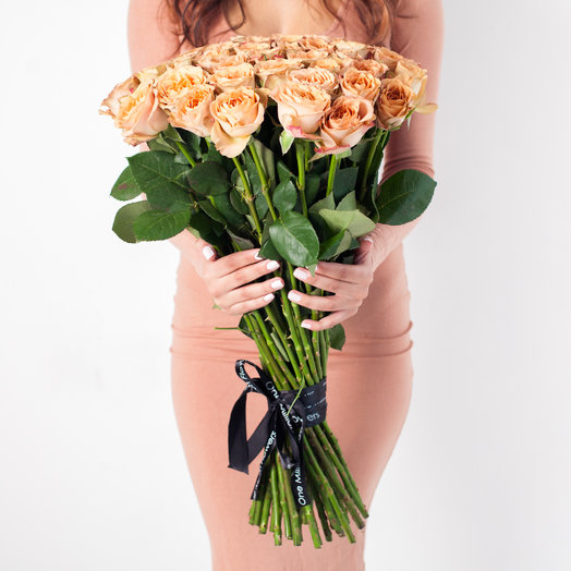 "Букет из 51 ""Капучино"": букеты цветов на заказ Flowwow"