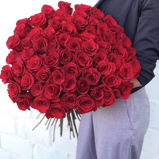 Букет бордовых роз: букеты цветов на заказ Flowwow