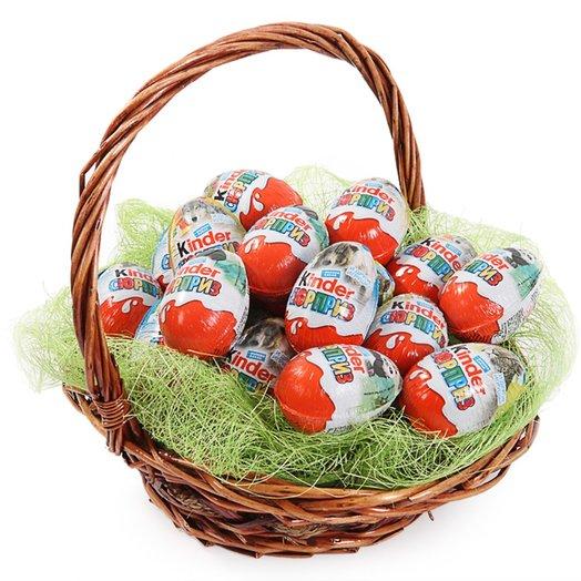 A basket of 20 kinder. Code 180105