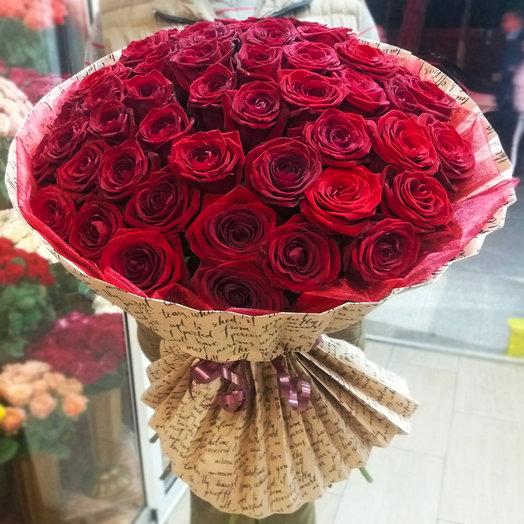 Букет из 51-ой красной розы