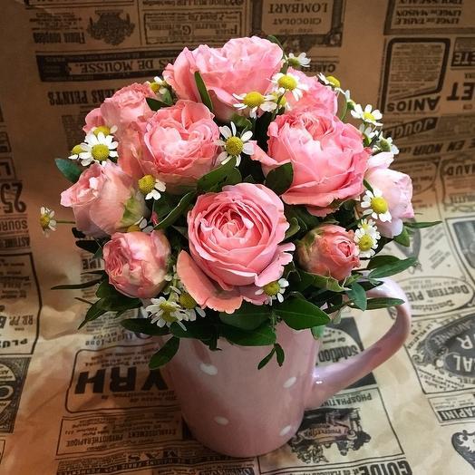Летняя чашечка: букеты цветов на заказ Flowwow