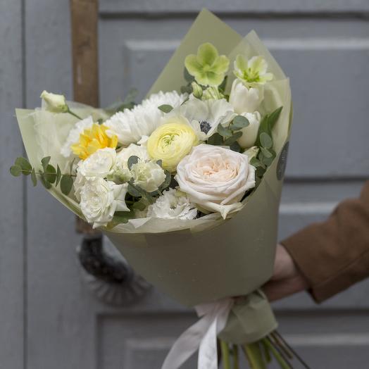 Фисташковый комплимент: букеты цветов на заказ Flowwow