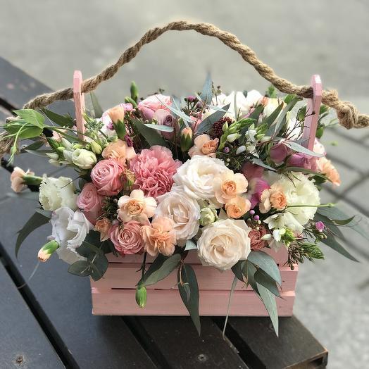 Ящичек изобилия: букеты цветов на заказ Flowwow