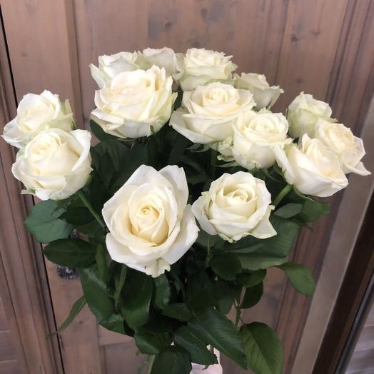 """Букет белых роз """"15 белых розочек"""""""