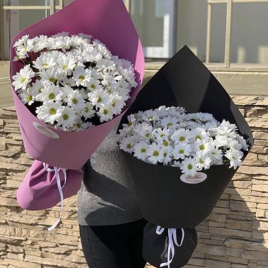 Стойкие Ромашки в ярком оформлении: букеты цветов на заказ Flowwow