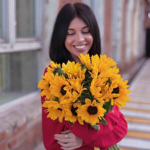 Подсолнухи 11шт: букеты цветов на заказ Flowwow