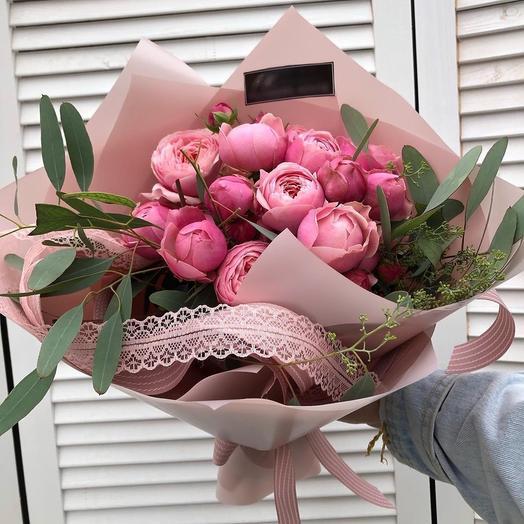 Ароматная пионовидная розочка: букеты цветов на заказ Flowwow