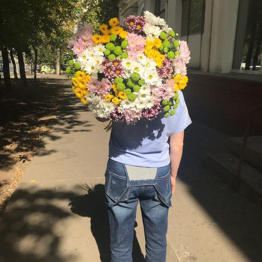 Хризантемовый микс: букеты цветов на заказ Flowwow