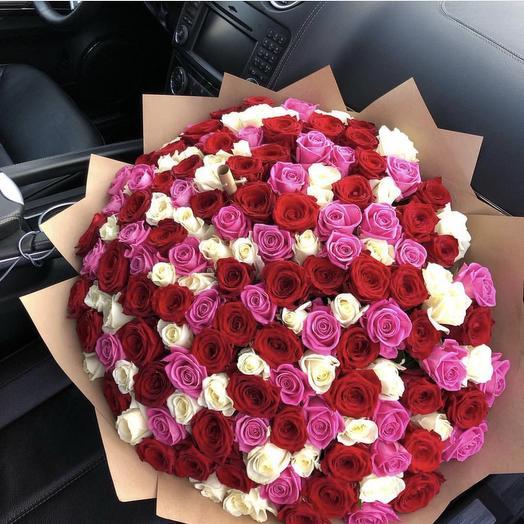 151 микс роза: букеты цветов на заказ Flowwow