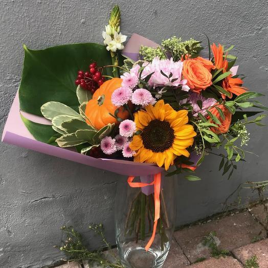 Тыквенно-осенний: букеты цветов на заказ Flowwow