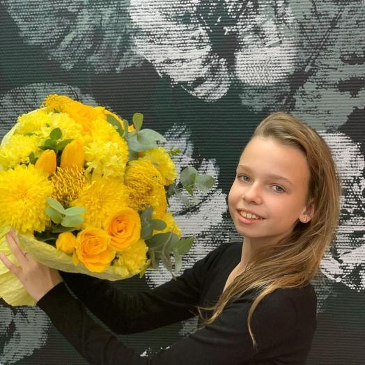Букет sunny: букеты цветов на заказ Flowwow