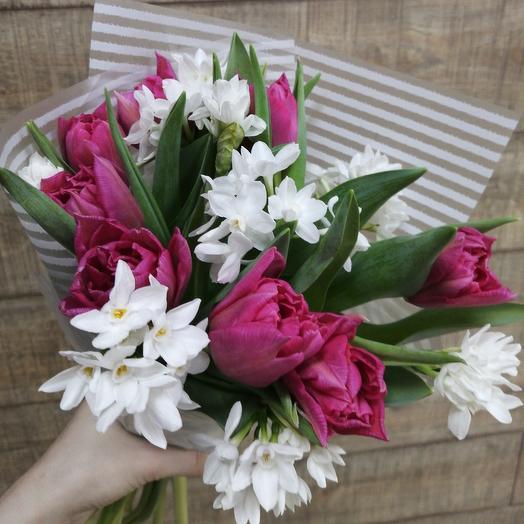 Весенний аромат солнечного настроения: букеты цветов на заказ Flowwow