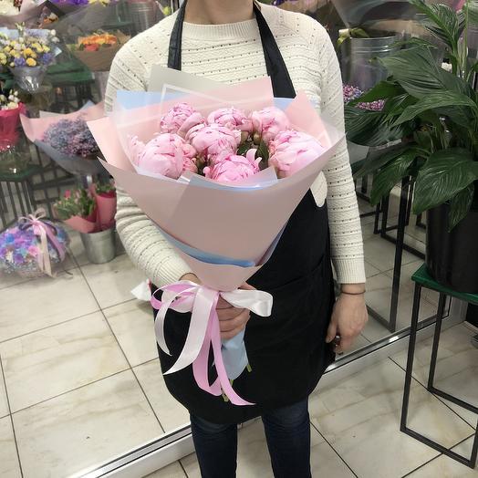 Пионы 7: букеты цветов на заказ Flowwow