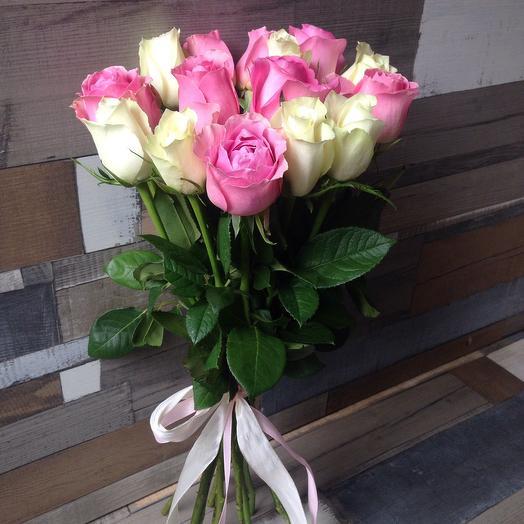 Роза зефирка: букеты цветов на заказ Flowwow