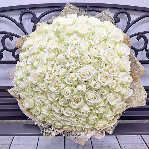 101 роза 50 см Аваланж