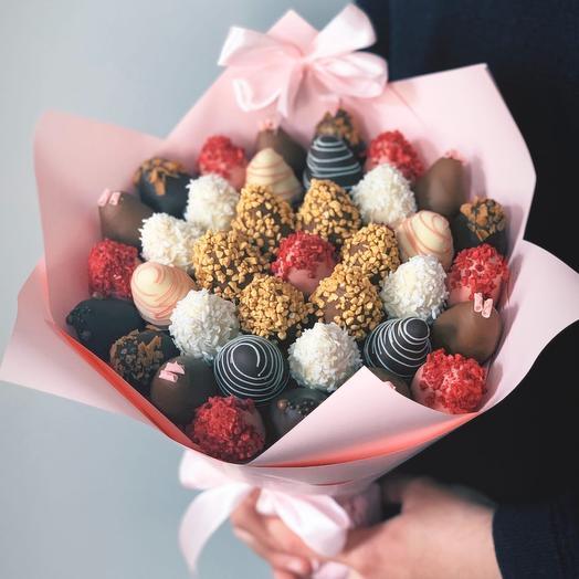 Букет из клубники в бельгийском шоколаде Barry Callebaut