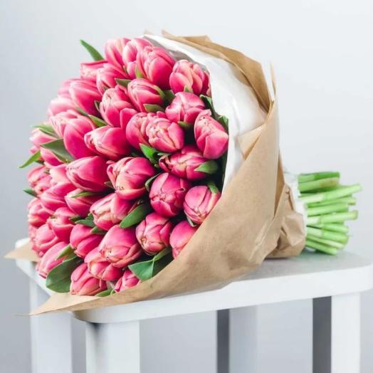 Монобукет из 39 пионовидных тюльпанов