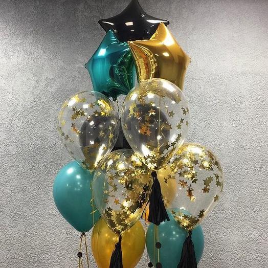 Воздушные шары тиффани и золото