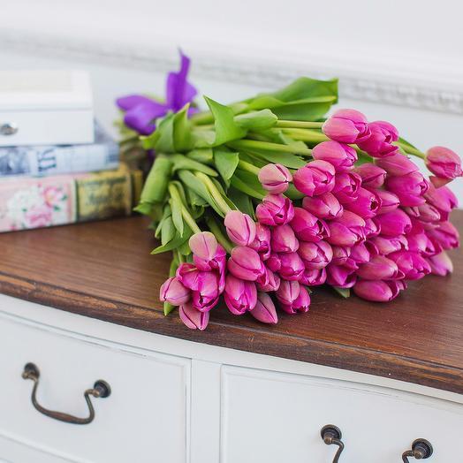 Моно-Букет Тюльпаны Розовые
