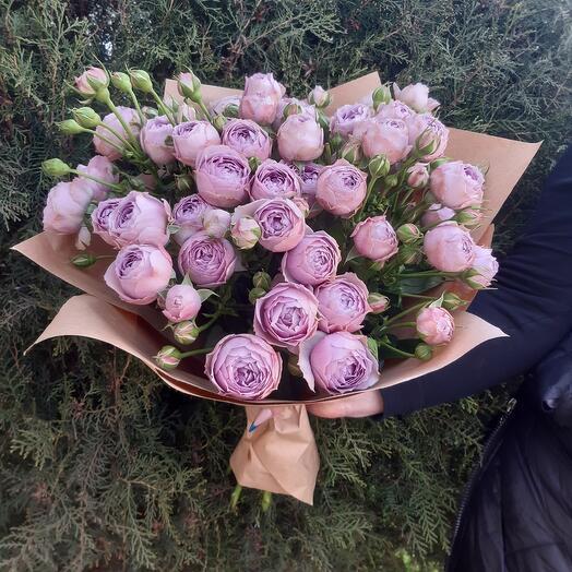 Букет из пиновидной розы