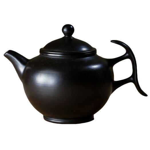 мастеровой чайник ручной работы, чёрная глина, 230 мл, Тайвань 1 шт