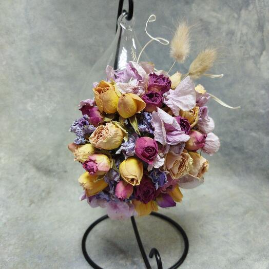 Флорариум с сухоцветами