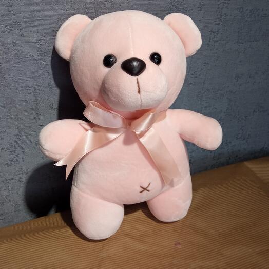 Розовый мишка