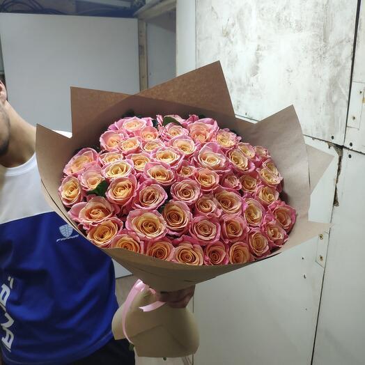 Мис пиги роза 51 штук