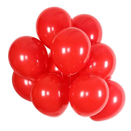 Красные гелиевые шарики 11 штук