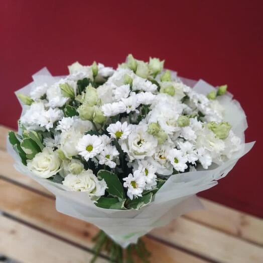 Букет цветов Белое облако