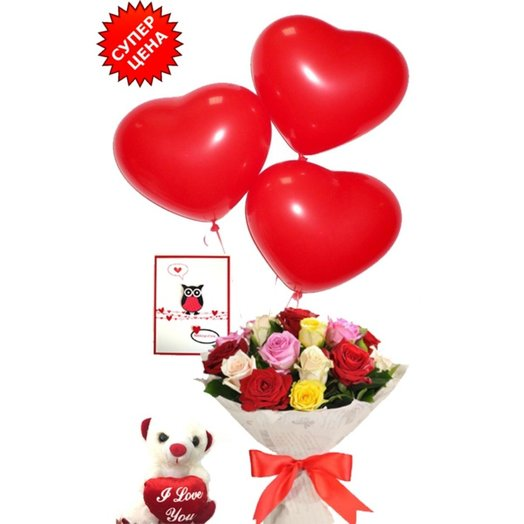 Набор на День Святого Валентина 1: букеты цветов на заказ Flowwow